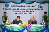 Agreement signed by securities commissions of Myanmar and Thailand