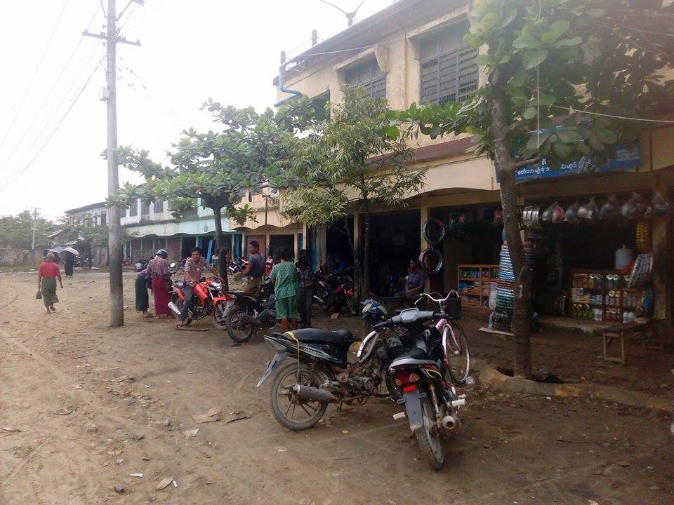 A shop selling spareparts for motorcycle in Maungtaw.  Photo- Nay Thit Oo