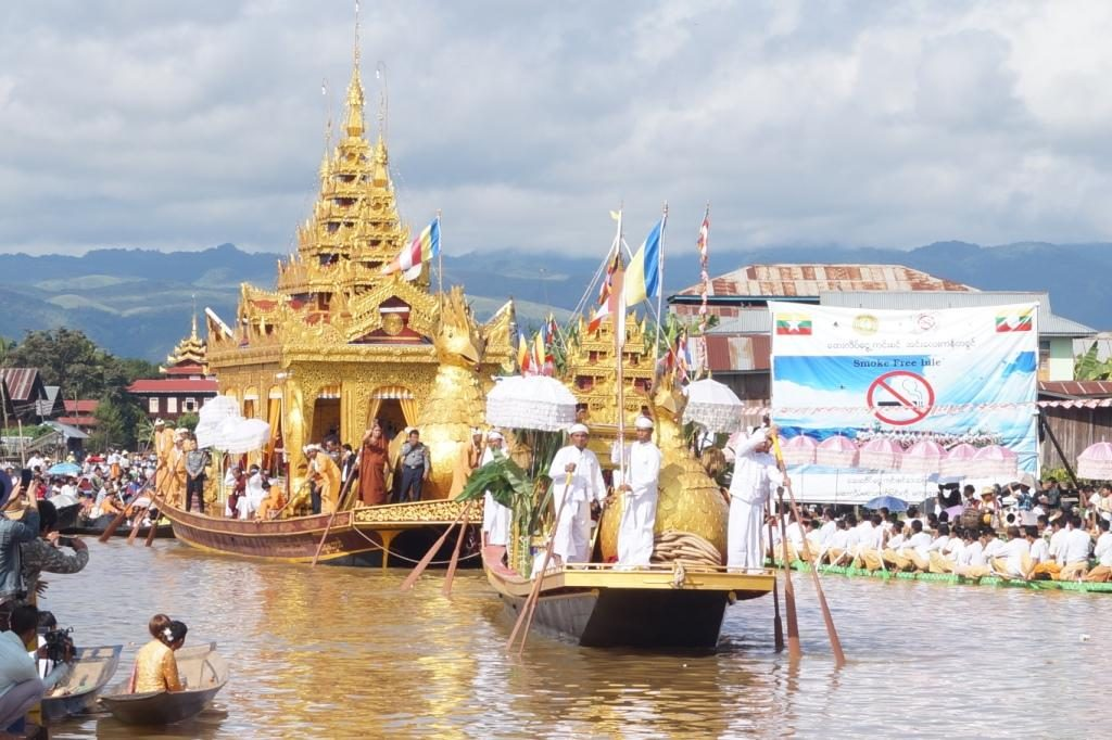Annually held Phaungdaw U Pagoda of Inlay Lake in progress. Photo: Sai Albe (Nyaung Shwe)