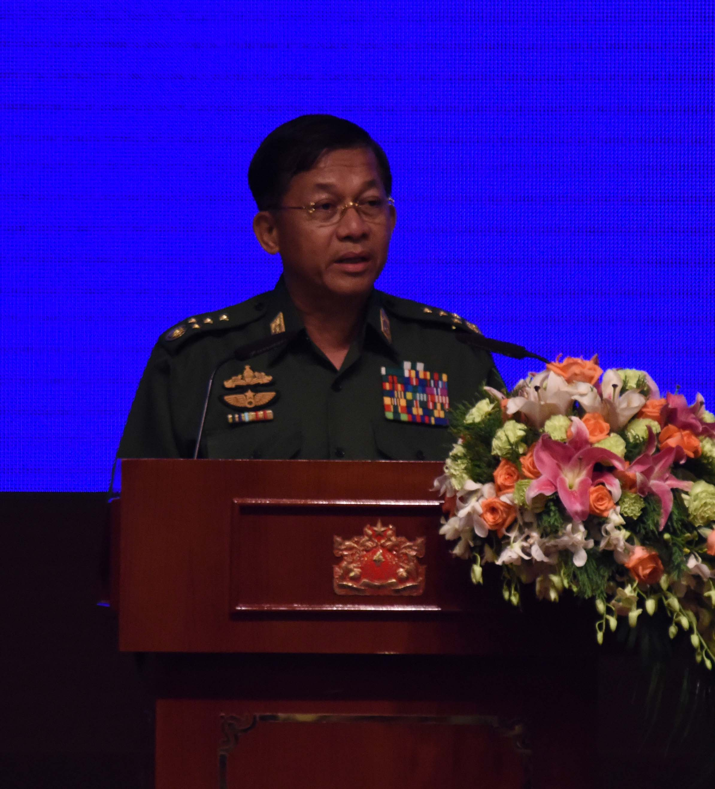 Senior General Min Aung Hlaing. Photo: MNA