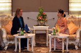 State Counsellor separately receives heads of ASEM partner countries and associations