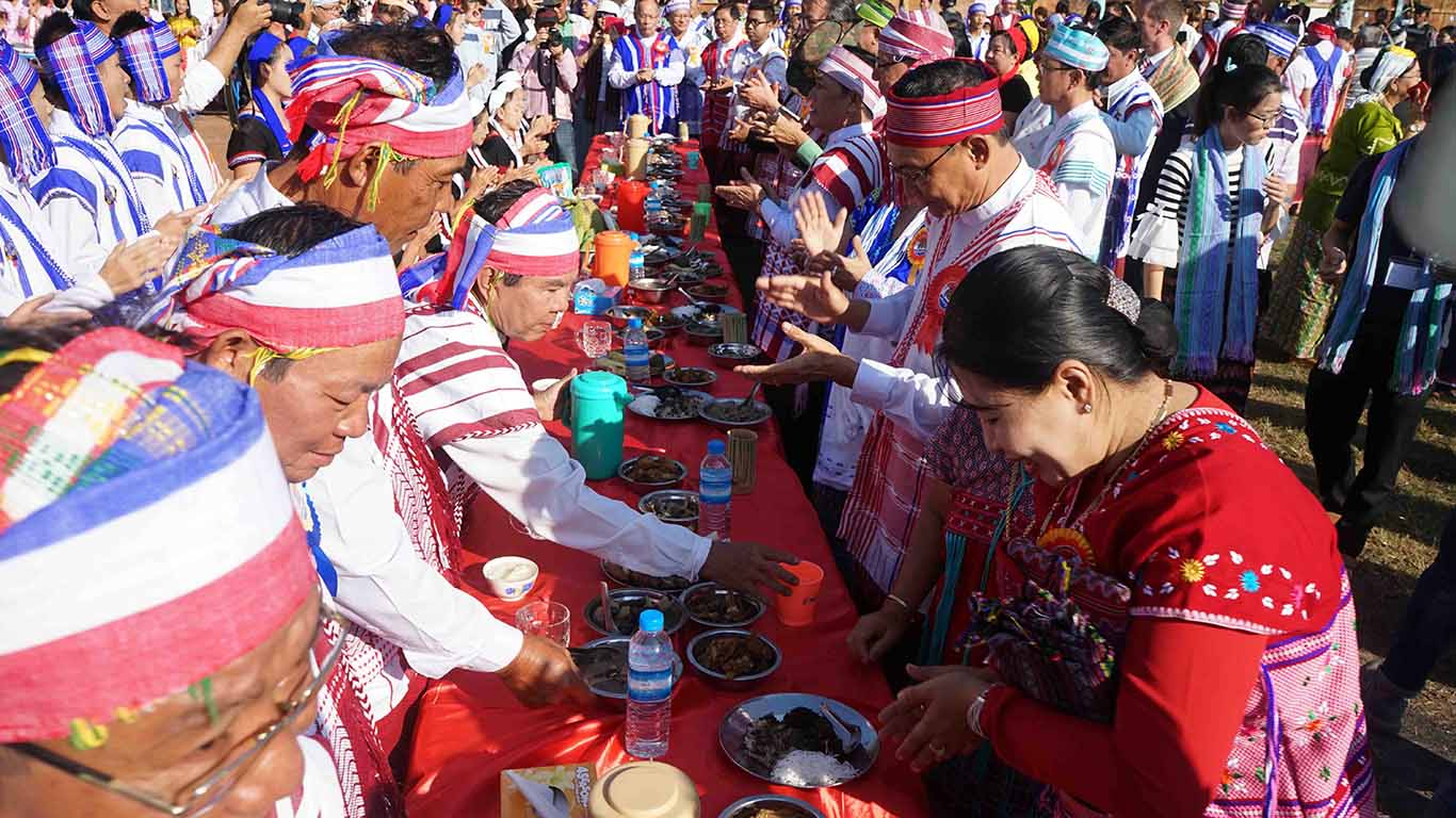Kayin New Year celebrations in Hpa-an, Kayin State.Photo: MNA