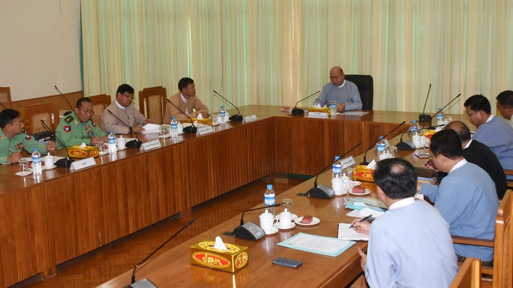 A coordination meeting for publishing NRPC periodical holds in Nay Pyi Taw yesterday. Photo: MNA