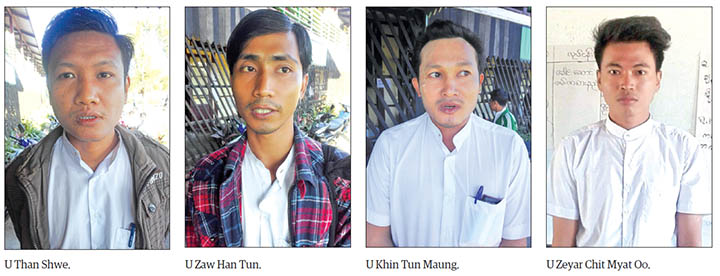 Youths with enthusiasm working as teachers in Maungtaw