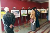 Watercolour painting exhibition in Mandalay