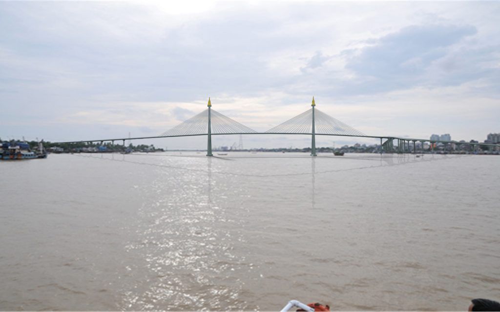 The architectural design of Korea-Myanmar friendship bridge (Dala).Photo: Supplied