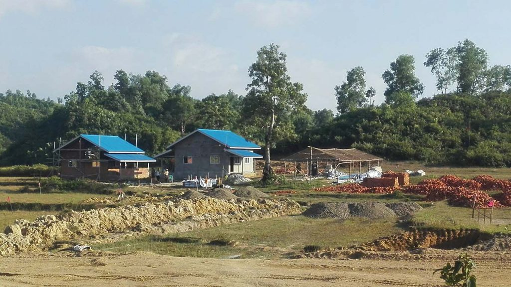 Ethnic Mro national's new homes in Maungtaw Township.Photo: Ne Win Tun