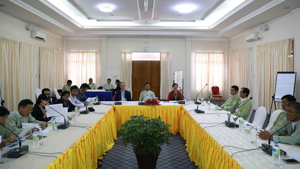Ministry of Planning and Finance, Forestry Department hold a meeting with UNESCO on administrative planning of the nature tourism of Hkakabo Razi region, Kachin State. Photo: MNA