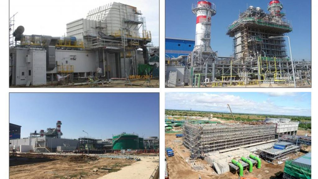 225MW-gas fired power plant project in Myingyan.Photo: Ministry of Electricity and Energy
