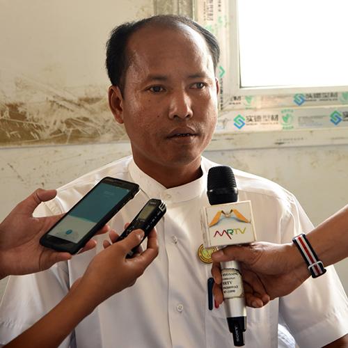 U Than Win, Senior Nurse, Taung Pyo Letwe camp.