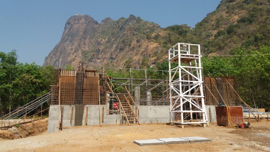 The construction site of Zwekabin cable car project in Kayin State.Photo: MDN