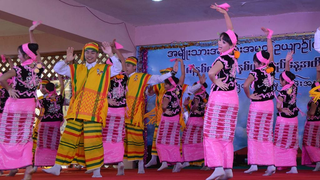 Traditonal dancers from multiple ethnicities perform at the National Landmarks Garden's 8th Anniversary.  Photo: MNA