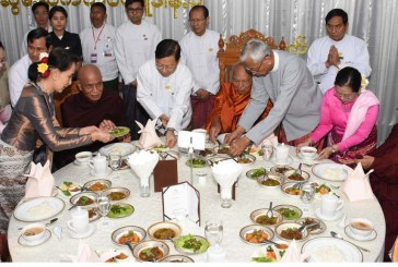 Union Government provides midday meals to members of the Sangha