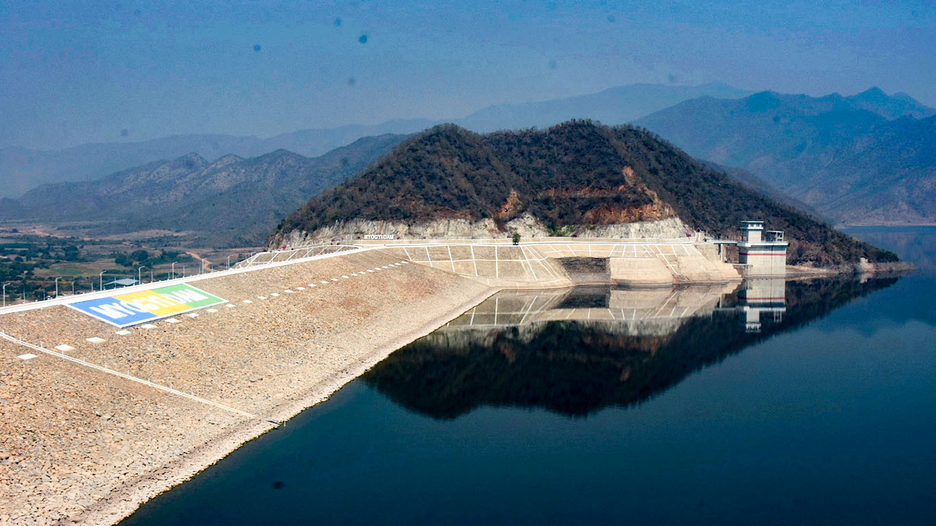 A panoramic view of the Myogyi Dam in Ywagan, southern Shan State.Photo: MNA