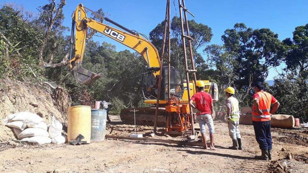 Engineers carry out geotechnical investigation to construct small airport in Lailenpi.  Photo: Supplied
