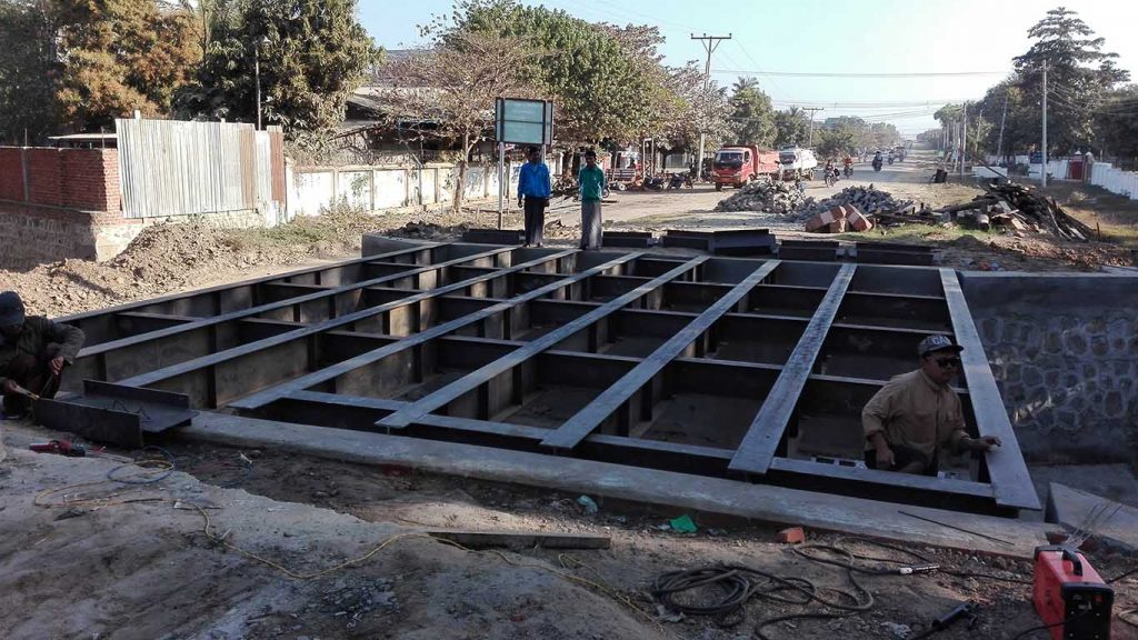 The construction site of Magyichaung Bridge, Kyunhla Township, Kanbalu District, Sagaing Region.  Photo: Myo Win Nyo