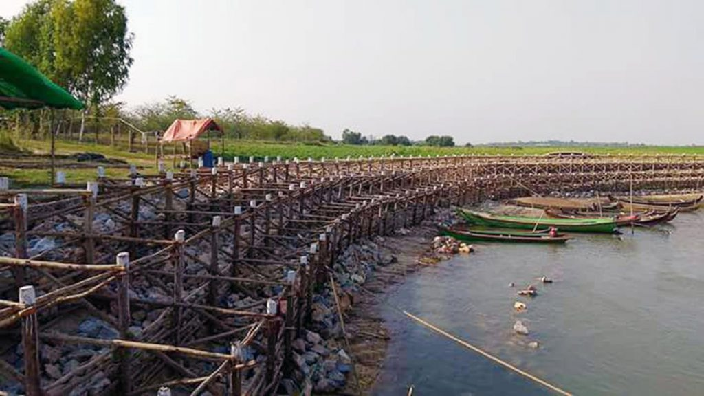 Deforestation and soil degradation is blamed for changing the flow of the Ayeyawady  River and for errosion of the river's bank. Photo: Min Htet Aung