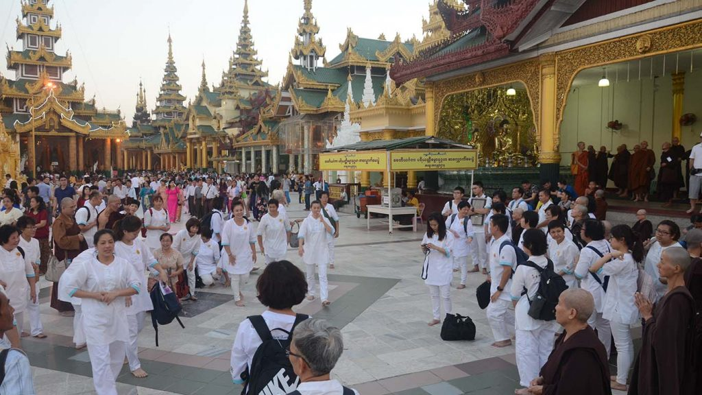 The famous Shwedagon Pagoda attracts thousands of international tourists daily. Photo: Phoe Khwar