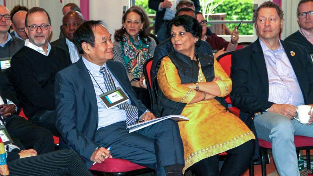 Union Minister for Health and Sports Dr.  Myint Htwe at the Vaccine Alliance Board Retreat Meeting in France.  Photo: MNA