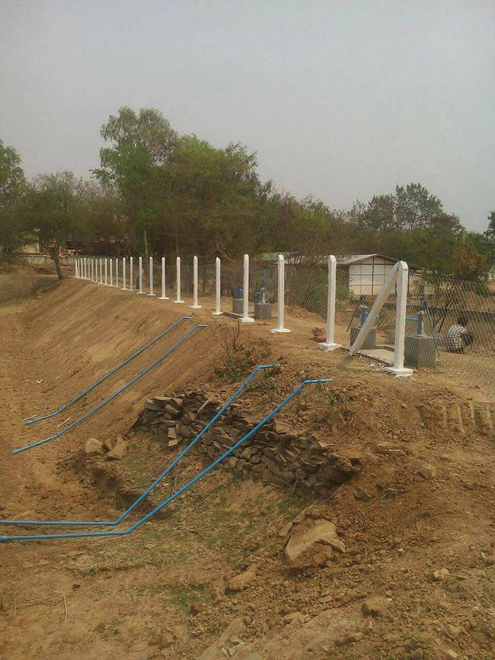 A photo shows rural development Department building the earthen lake construction project to supply drinking water to some 125 households in the summer.