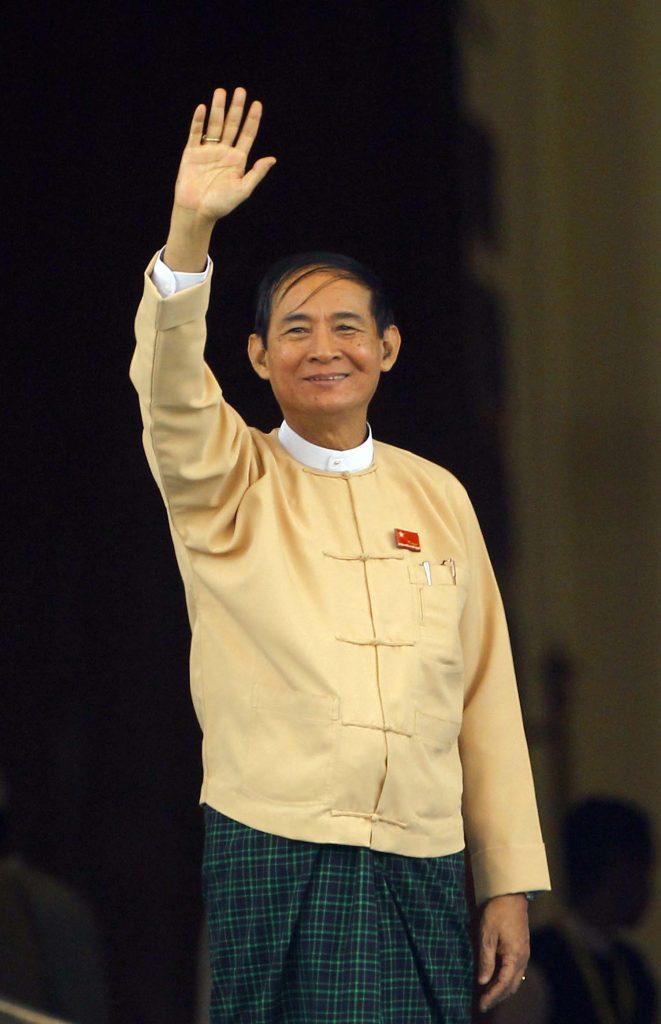 Former Pyithu Hluttaw Speaker  U Win Myint elected as the next President.  Photo: GNLM
