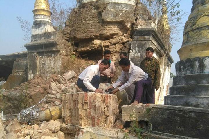 bagan damaged pagoda copy