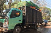 Two six-wheel trucks carrying live chickens confiscated on Hpa-an-Hton-ai Road