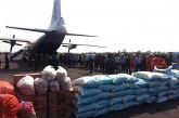 Rice and foodstuff airlifted to Putao, Kachin State