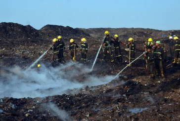 Poisonous smoke from garbage fire to be controlled in three days