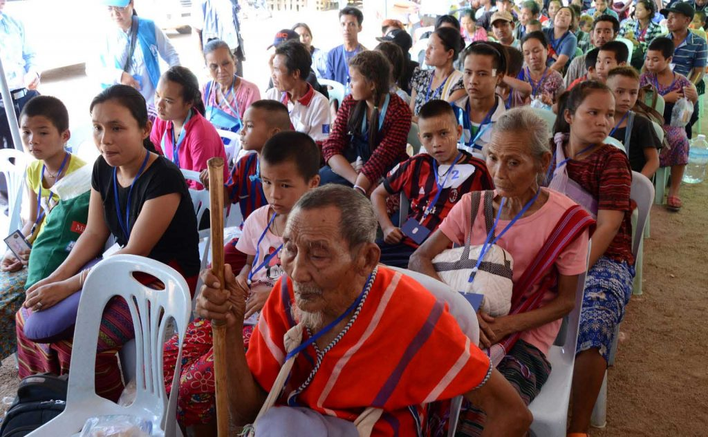 Myanmar nationals who voluntarily returned are seen at Kyauk Lone Gyi reception centre.Photo: MNA