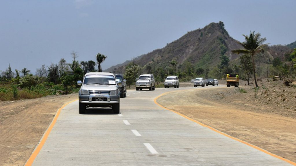 A new Angumaw-Kotankauk section of the Angumaw-Maungtaw road is expected to ease traffic when it opens in Maungtaw.Photo: MNA