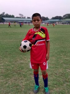 Min Khant Young Footballer representing Myanmar at the Football for Friendship Programme in Russia