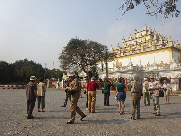 Tourists being seen taking the photos of a pagoda in Mandalay. Photo Thiha Ko Ko copy
