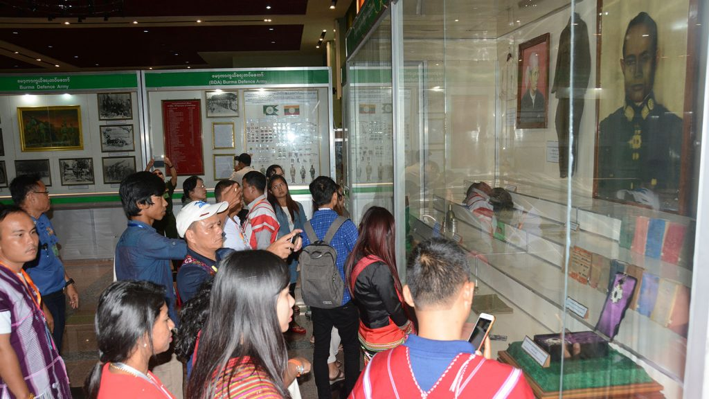 Attendees of the Union Peace Conference-21st Century Panglong Third Session visiting the Jade Museum, the National Museum and Defence Services Museum in Nay Pyi Taw.Photo: MNA