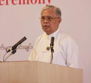 U Aung Kyi, Chairman of the Anti-Corruption Commission.