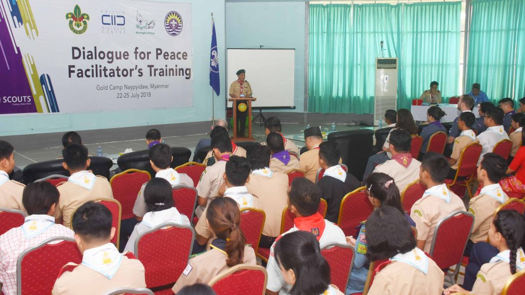 Dialogue for Peace Facilitator's Training in progress in Nay Pyi Taw.  Photo: MNA