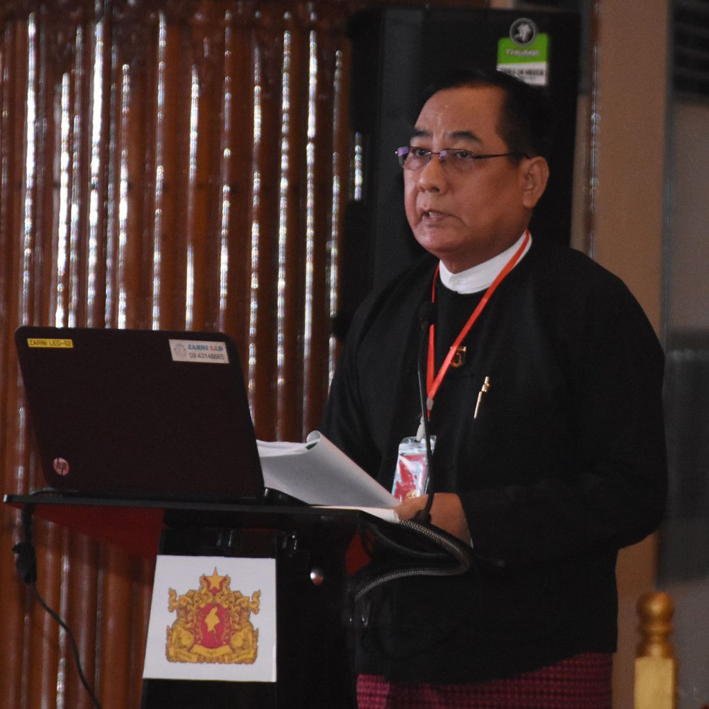 Yangon Region Chief Justice U Win Swe.Photo: MNA