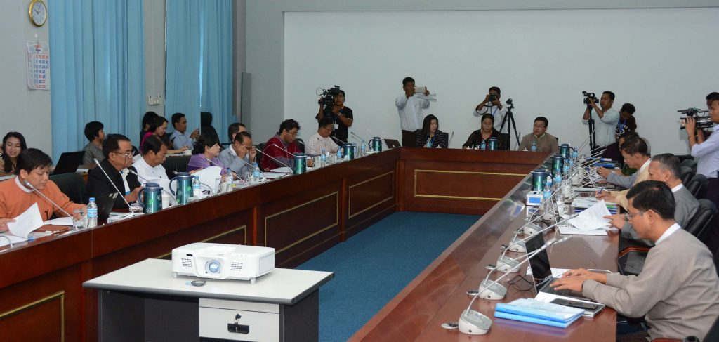 The 23rd meeting of the Union Peace Dialogue Joint Committee held in Nay Pyi Taw on 7 July.Photo: MNA