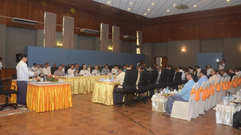 Union Minister for Religious Affairs and Culture Thura U Aung Ko meets Interfaith Friendship and Unity Group (Myanmar).Photo: MNA