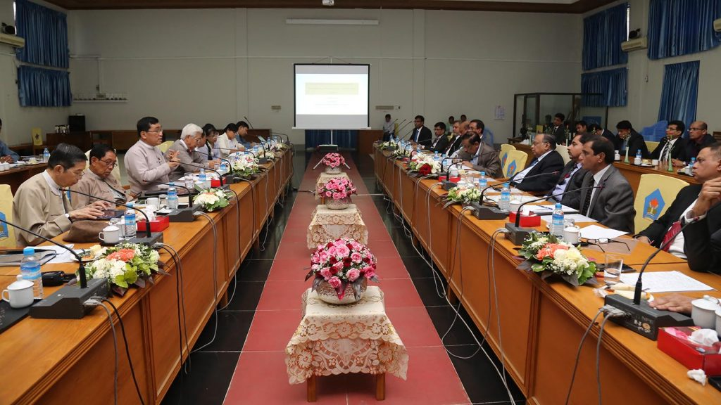 The meeting between Myanmar and Bangladesh focuses on resolving the Rakhine issue amicably.Photo: MNA