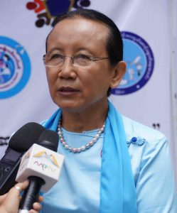 Dr. Mya Thida, General Secretary of the Orphans Reduction and Protection Association (Myanmar).Photo: MNA