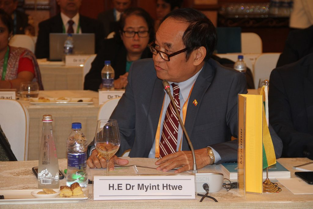 Union Minister Dr. Myint Htwe participates in 71st Session of WHO Regional Committee for South East Asia.Photo: MNA