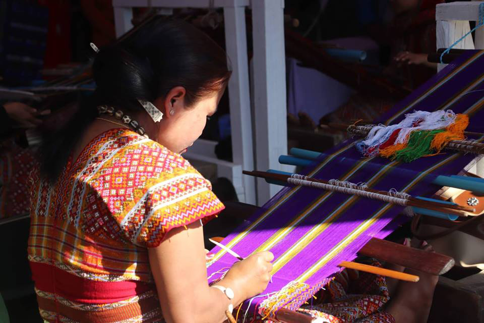 Traditional hand weaving of textiles in Chin State. PHOTO: Salai kyaw moe tun