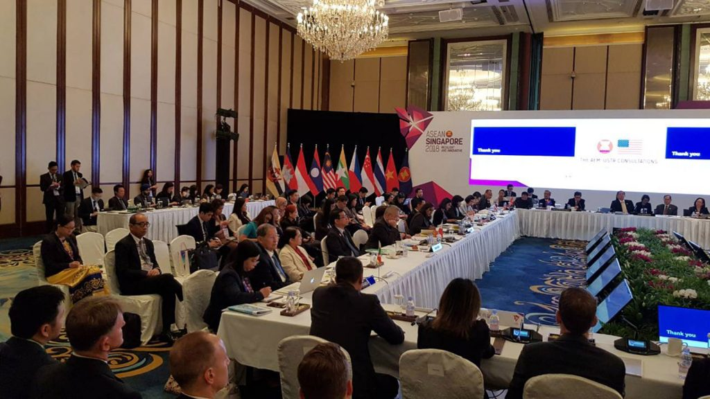 50th ASEAN Economic Ministers' Meeting being convened in Singapore.  Photo:MNA