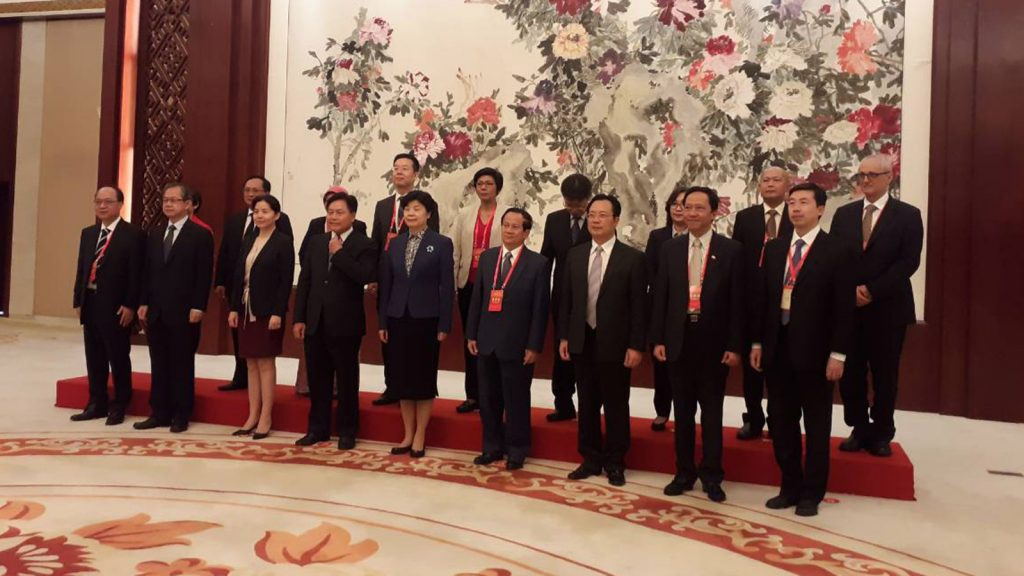 Permanent Secretary Dr. Thet Khaing Win poses for a documentary photo together with other attendees at the 2nd China-ASEAN congress in Nanning.Photo: MNA