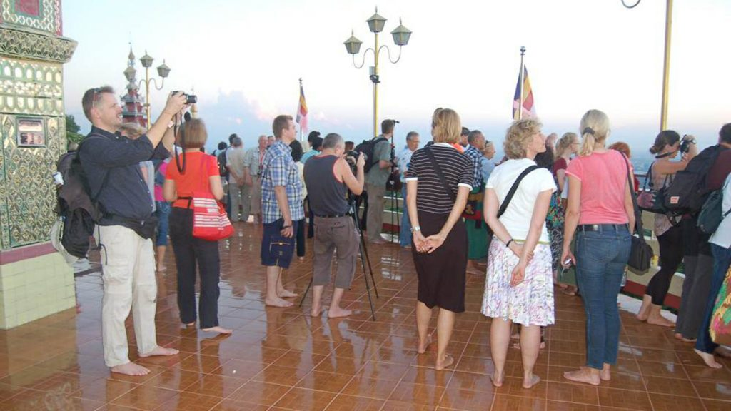 Tourists seeing sceneric views of Mandalay from the top of Mandalay Hill.Photo: Min HtetAung