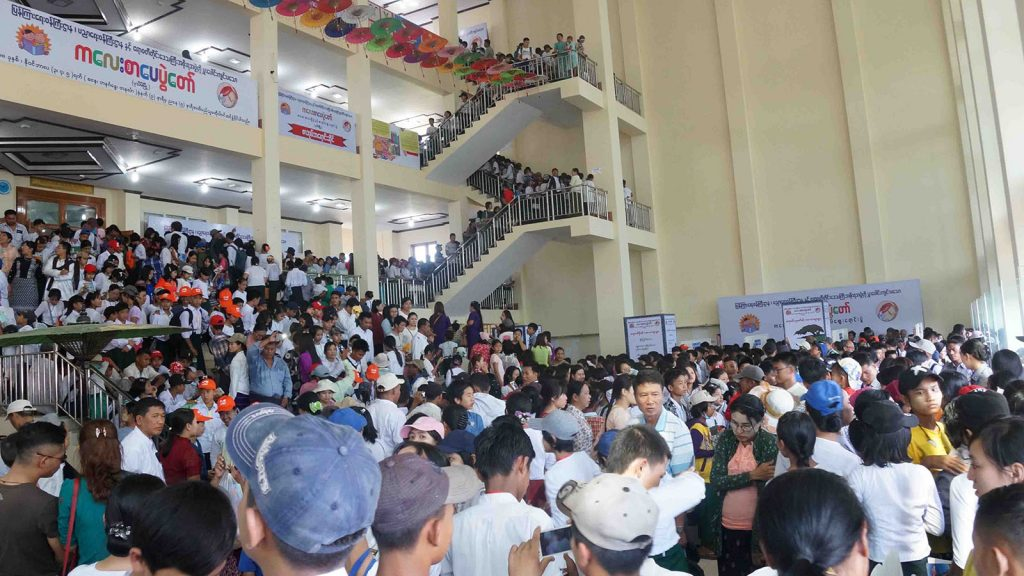The festival hall packed with people. Photo: Nay Lin
