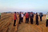 Union Minister U Thant Sin Maung inspects Falam Airport construction project