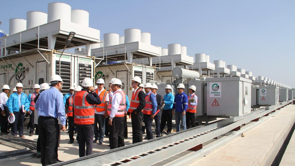 Union Minister U Win Khaing inspects the 90 MW gas fired engine plant in Myingyan Tsp.Photo: MNA