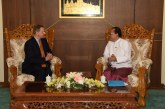 Union Minister U Kyaw Tin accepts credentials from UNHCR Representative